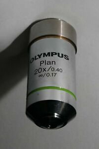 Olympus Plan 20x 0 40 8 0 17 0 17 Microscope Objective Lens With Spacer