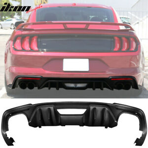 Fits 18 19 Ford Mustang S550 2 Door Rock Style Matte Black Pp Rear Diffuser