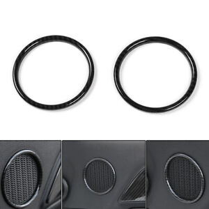 Abs Door Speaker Ring Trim Frame Cover Small Size For Ford Mustang 2015 2017 T1
