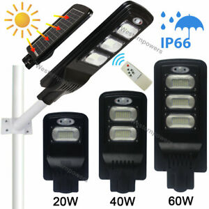 20w 40w 60w Led Waterproof Solar Powered Wall Street Light Motion Sensor