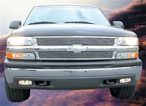 Fit 2001 2002 Chevrolet Silverado 1500 Hd Aluminum Polished Horizontal Grille