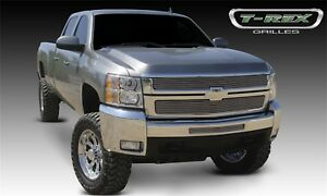 For 2008 Chevrolet Silverado 3500 Hd T rex Grille Overlay Djtm