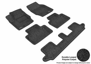 3d Fits 2003 2014 Volvo Xc90 G3ac42097 Black Carpet Front Rear And Third Row Ca