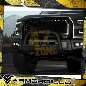 For 2013 Ford F 250 Super Duty Matte Black Ms Series Bull Guard W Skid Plate