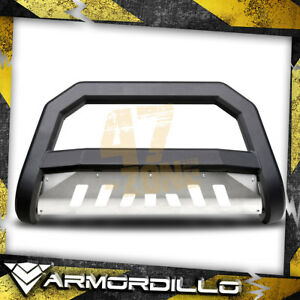 For 2012 Toyota Tacoma Matte Black Aluminum Skid Plate Ar Series Bull Guard