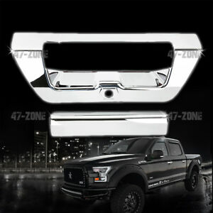 For 2015 Ford F 150 Chrome Tailgate Handle Cover