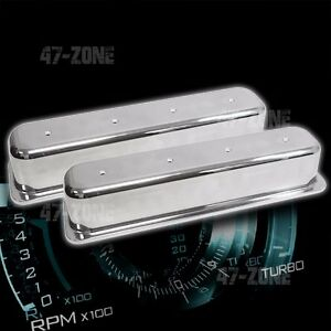 Tall Polished Aluminum Center Bolt Valve Covers No Holes 87 97 Chevy 5 0l 5 7l