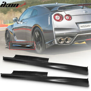 Fits 09 18 Nissan R35 Gtr Gt r Coupe Oe Pp Side Skirts Extension Rocker Panels