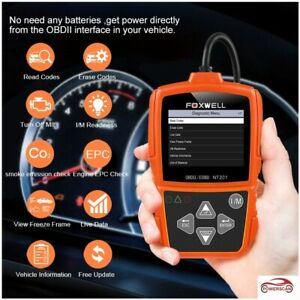 Automotive Obdii Eobd Code Reader Scanner Car Diagnostic Engine Light Check Tool