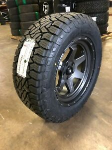 5 20x9 Fuel D665 Shok Gray 33 At Wheel Tire Package 5x5 Jeep Wrangler Jk Jl