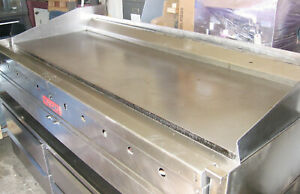 72 Inch 6 Foot Wide Gas Thermostatic Grill Griddle
