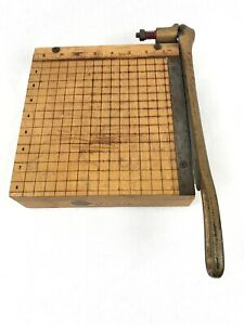 Ingento No 2 Guillotine Paper Cutter Ideal School Supply Company Vintage 1950s