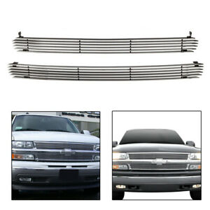 For 2000 2006 Chevy Suburban Tahoe Aluminum Billet Grille Grill Combo Inserts