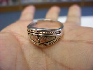 Vintage Jewelry 10k Gold Overlay Sterling Ring Size 8 1 4 115