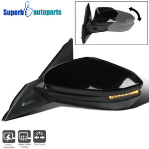 For 16 18 Honda Civic Black 7 Pin Power Heated Left Fold Side Mirror led Signal