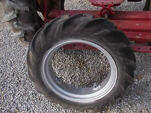 Farmall Cub Or Lo Low Boy Tractor 9 24 Good Year Tread Tire Repainted Ih Rim