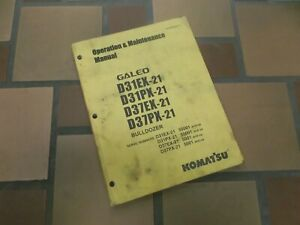 Komatsu Galeo D31px 21 Bulldozer Crawler Dozer Owner Operator Maintenance Manual