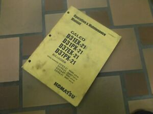 Komatsu Galeo D37ex 21 Bulldozer Crawler Dozer Owner Operator Maintenance Manual
