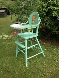 Vintage Child S Youth High Chair Home Hearth Feeding Baby