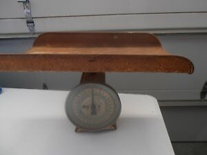 Antique Baby Hanson Nursery Scale Weighs Up To 30 Lbs Made In Chicago