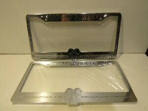 In And Out Burger New Chrome Pair Metal License Plate Frames Rare Holders