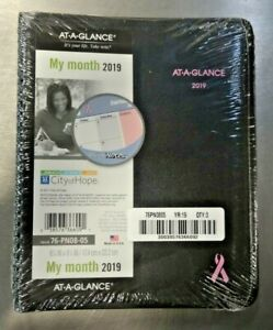Lot Of 3 At A Glance 76pn0805 Monthly Planner 6 7 8 x8 3 4 Black pink 2019 New