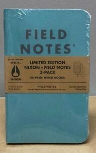 Field Notes nixon Limited Edition Sealed 3 pack Notebooks Special Edition