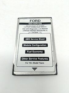 Ford Ngs Star Tester Pcmia Service Card Obd Ii Can Link 1994 Black Card