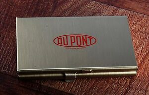 Rare dupont Reg Us Pat Tm Off Business credit Card Holder Case 2 Tier Nos