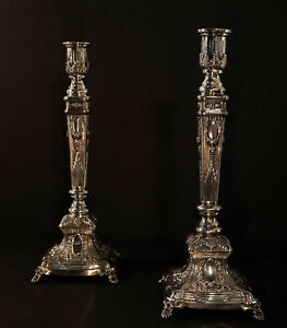 Sterling Pair Of Hadad Brothers Venezia Candlesticks Non Weighted Vintage