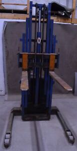 Blue Giant Walk Behind Electric Forklift Order Picker Straddle Stacker Walkie