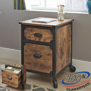 Weathered Pine Bedroom Nightstand Office Cabinet End Table Wooden Rustic Rack Us