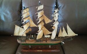 Vintage Antique 1853 Young America Clipper Ship Model Wooden Rare Excellent