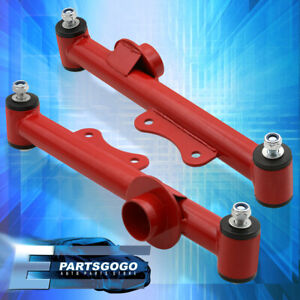 Red Rear Lower Control Camber Suspension Arms Kit Ford Mustang 1979 2004