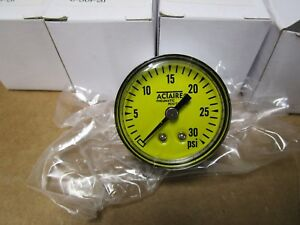 1 5 Pressure Gauge 0 To 30 Psi Range 1 8 Npt Rear Mount Yellow Face Lot Of 12