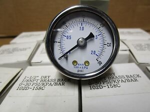 1 5 Pressure Gauge 0 To 30psi Range 1 8 Npt Rear Mount Lot Of 12