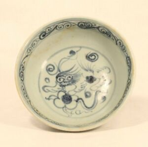 Ming Qing Dynasty Blue And White Porcelain Bowl
