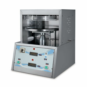 Pizza Dough Press Heated Until 18 Commercial Mecnosub Pf45k 220v Made In Italy