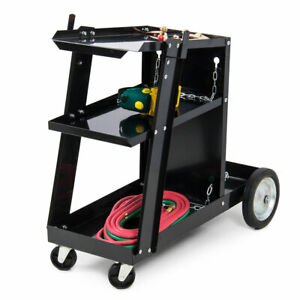 Universal Welding Cart For Mig Mag Arc Welding Machine Welder Diy Garage Home Hd