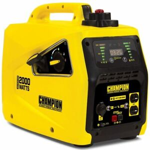 Champion 100306 1600 Watt Inverter Generator W Parallel Capability carb