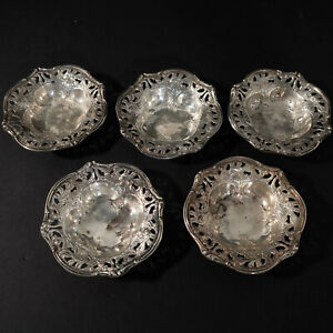 Sterling Silver Nut Dishes 5pc