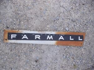 Farmall 706 Tractor Front Ih Right Engine Motor Hood Side Panel Chrome Emblem