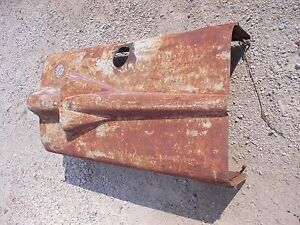 Farmall Super M Tractor Original Ihc Ih Hood For Over Engine W Clips