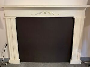 White And Gold Fireplace Mantle