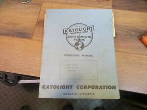 Katolight Model 55fgh4cep Series Type 15241 2 Generator owners Operating Manual