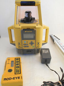 Topcon Rt 5sa Dual Slope Grade Rotary Laser Machine 14 Rod Inches W case