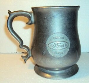 United Auto Workers Ford Mug Pewter Local 542 Local 1052 Auto Workers Canton