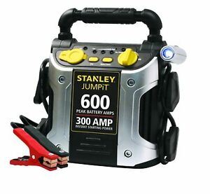 J309 Power Station Jump Starter 600 Peak 300 Instant Amps With Battery Clamps