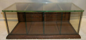 Sm Antique Oak Glass General Store Counter Top Showcase Cigars Pens Smalls