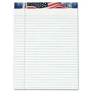 Tops American Pride Writing Pad Legal wide 8 1 2 X 11 3 4 Whi 025932751110